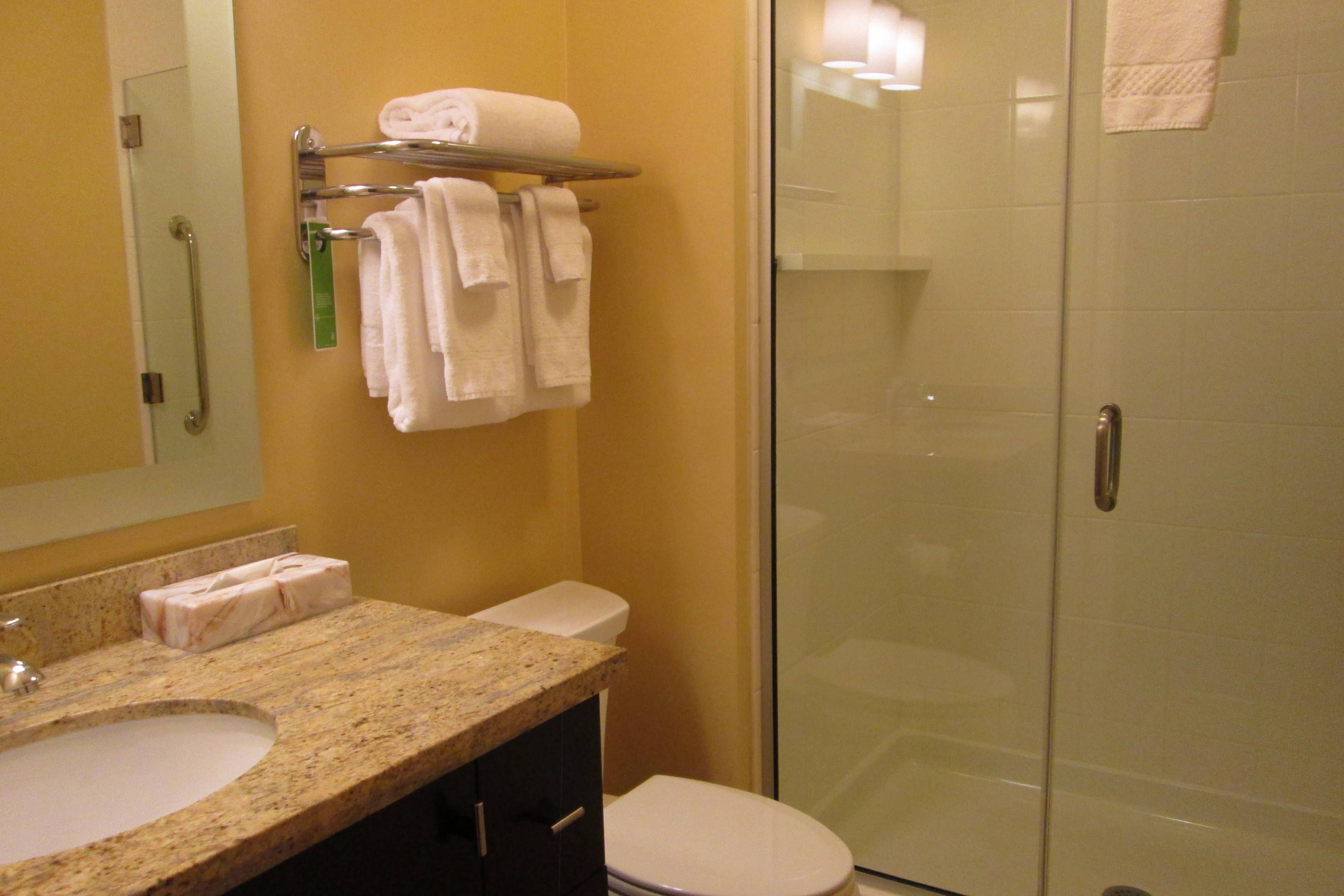 Towneplace Suites Williamsport Suite Bathroom Suite Guestroom Holiday Shower Shelves Suites Williamsport