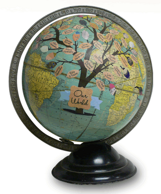 Globe by wendy gold map a licious pinterest globe map globe globe by wendy gold gumiabroncs Gallery