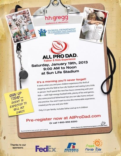 2013 All Pro Dad Father & Kids Experience Miami Gardens, FL #Kids #Events