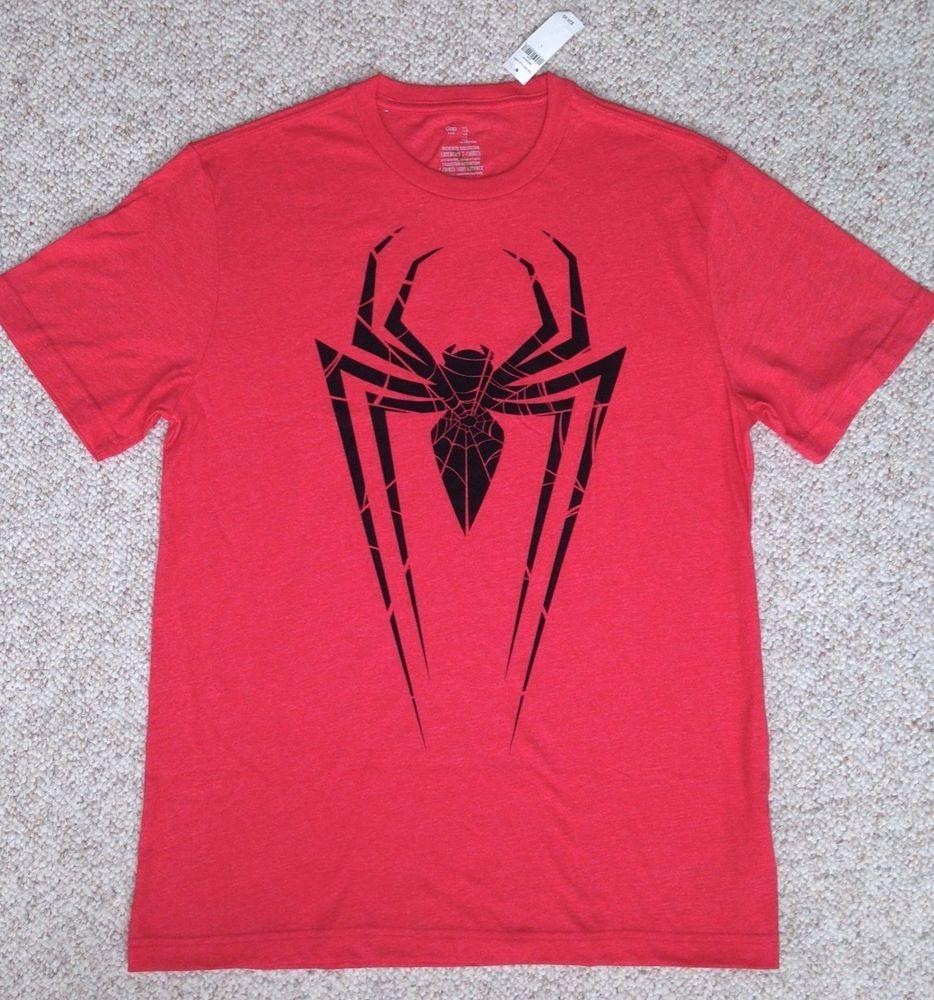 T-SHIRT Heather-Red Black Spider&Web