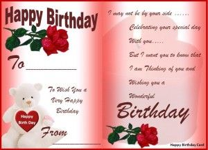 Sample Bday Cards  Happy Birthday Card Template Free Download
