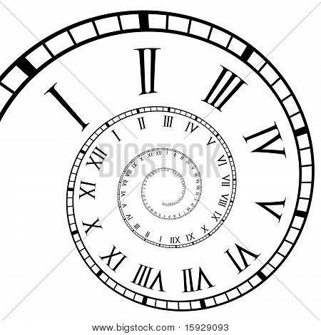 Spiral Roman Numeral Clock Time Line Roman Numeral Clock Roman Clock Clock Drawings