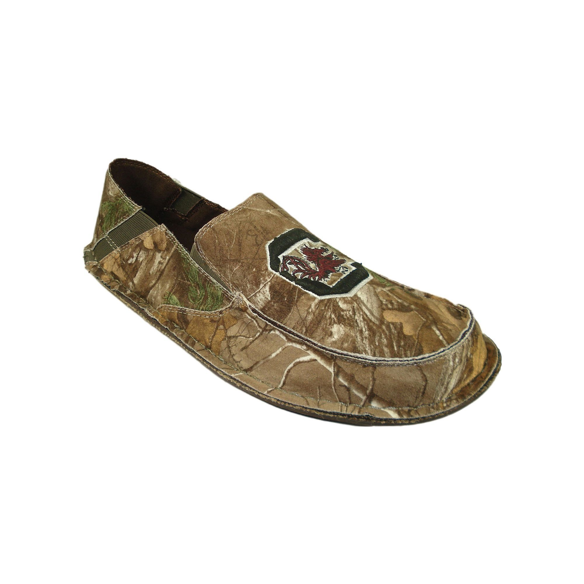 Mens South Carolina Gamecocks Cazulle Realtree Camouflage Canvas Loafers Size 10 Multicolor