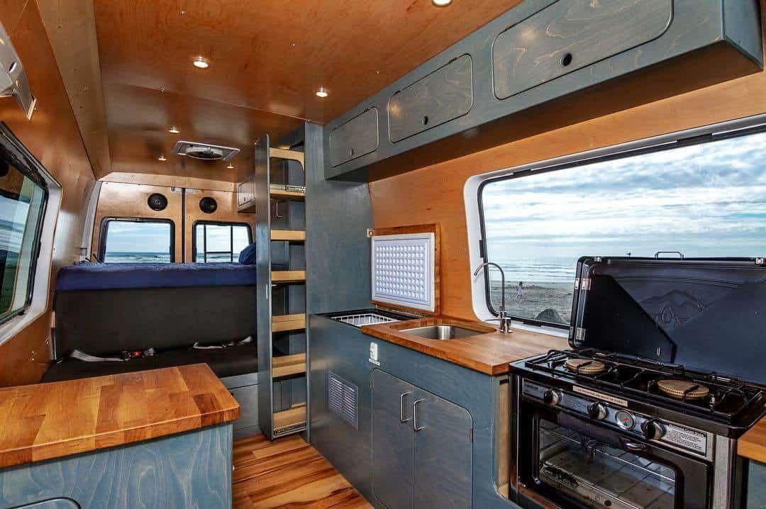 9 Campervan Kitchen Design Ideas For Van Life Van Conversion Interior Van Life Diy Van Conversion Kitchen