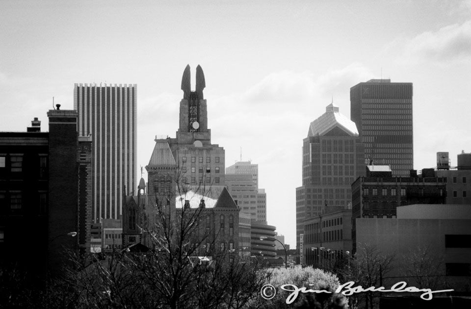 Old Photos Of Rochester Ny The Rochester Ny Skyline Looking Eastward Image 278 This View Ny Skyline Rochester City Skyline