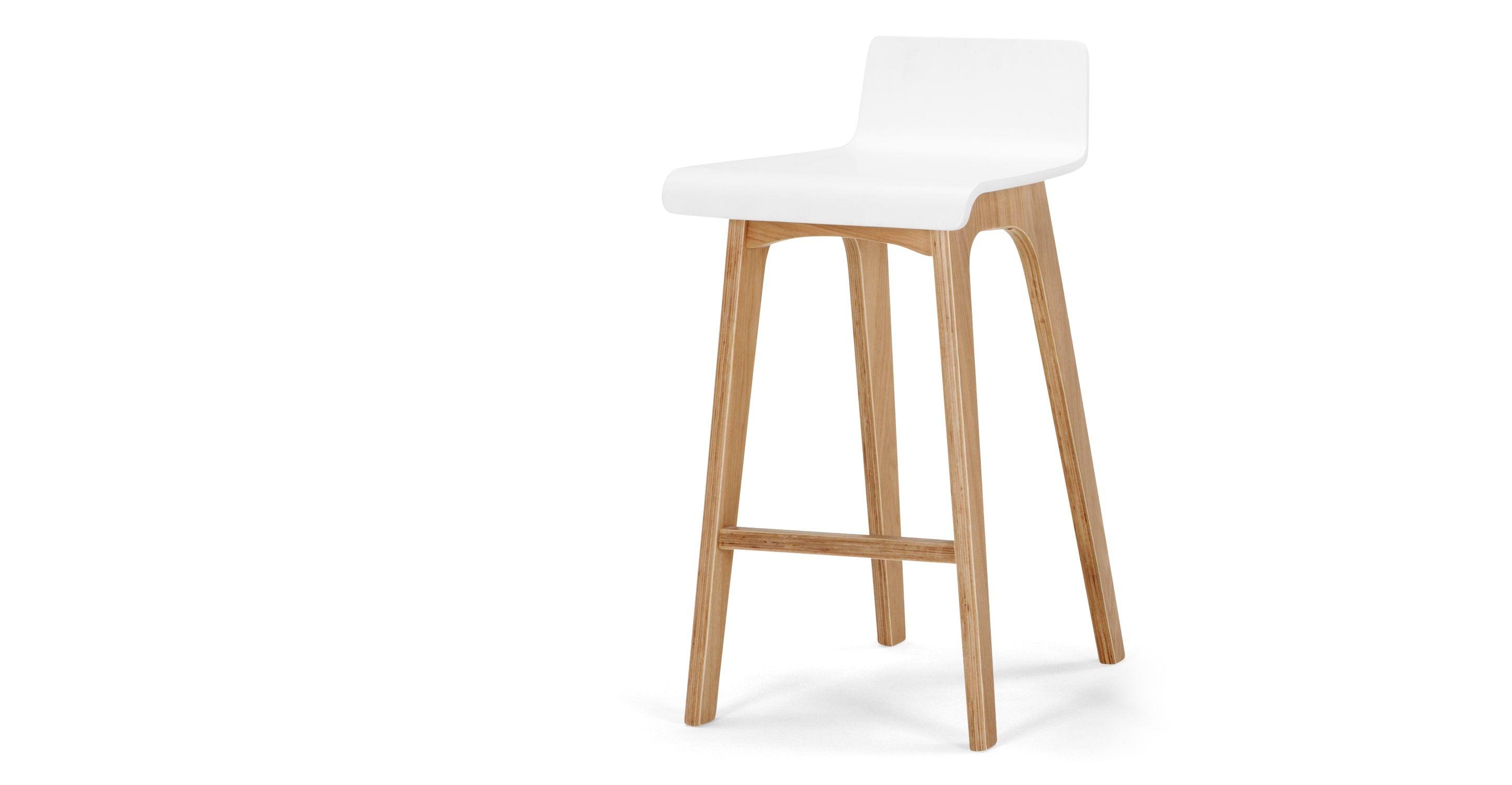 Perfekt Devlin Barhocker, Weiß Und Esche | Made.com