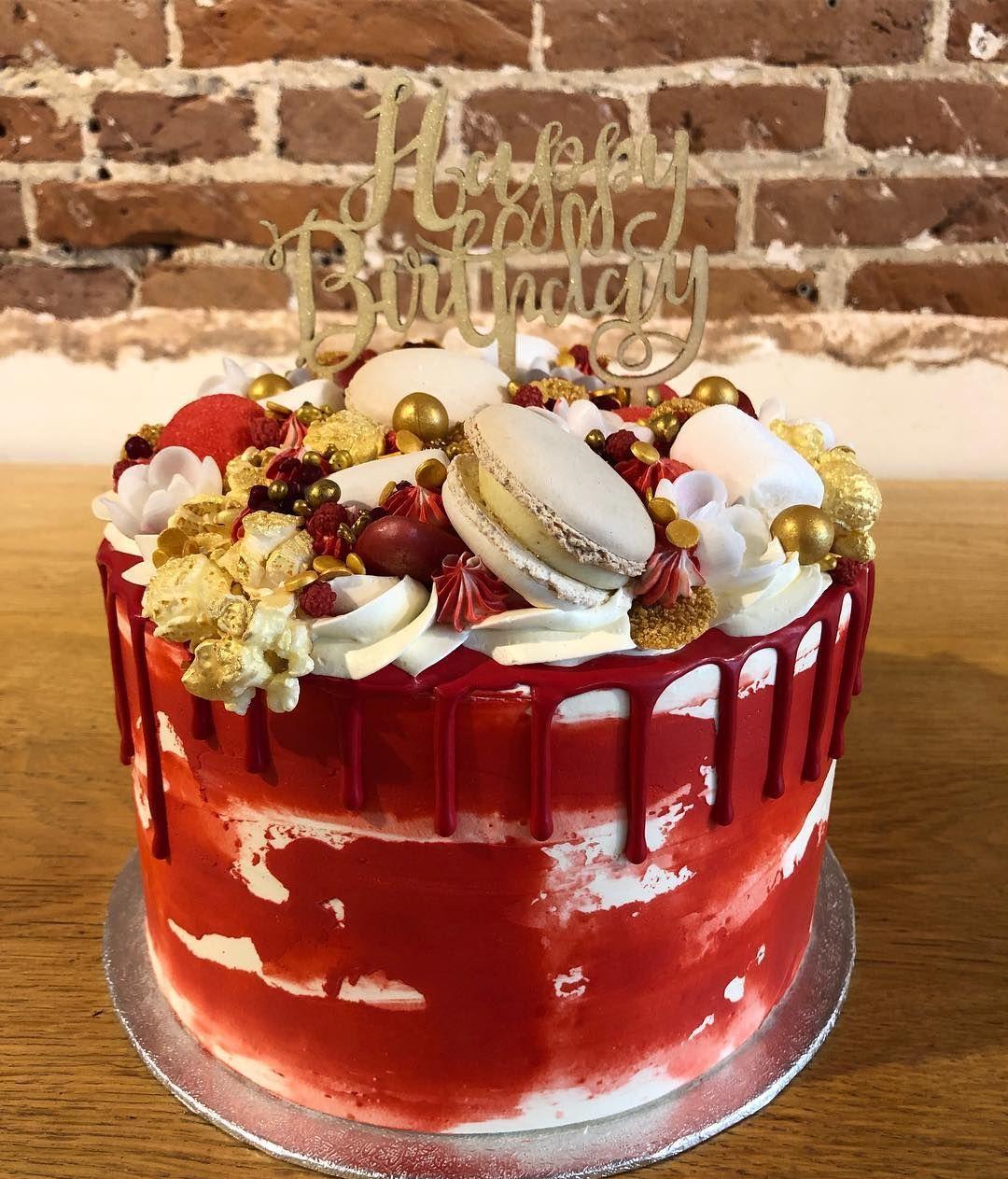 Red And White Birthdaycake Cupalacake Westermarkt