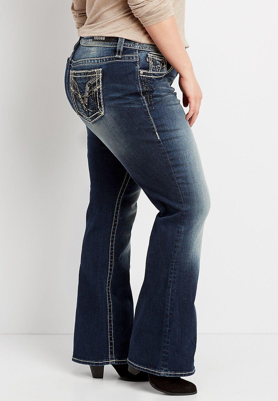 0ec7ed6fc49 plus size Vigoss® dark wash embellished boot cut jean in 2019