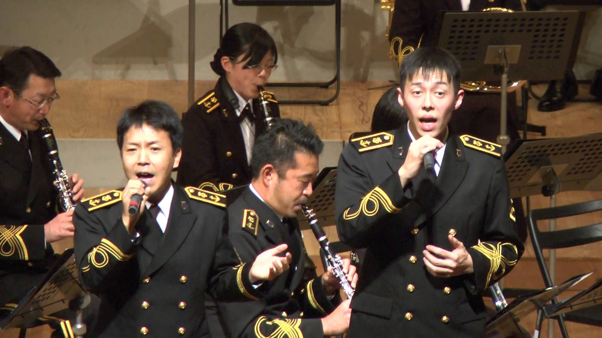 字幕入り ゆず 栄光の架橋 海上自衛隊 横須賀音楽隊 海上自衛隊 字幕 音楽隊