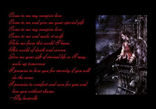 vampire poems | My Vampire Love~~~A Poem By luv4ville~~~ photo ...