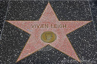 Vivien Leigh Hollywood Walk Fame