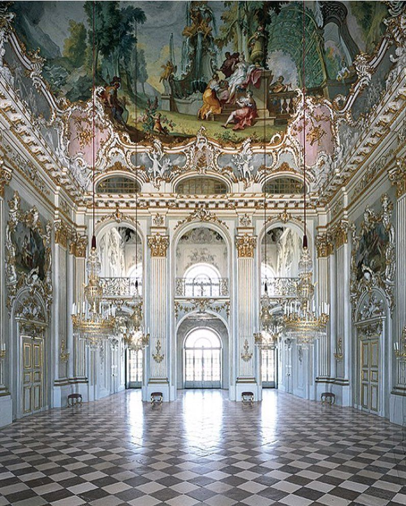 Schloss Nymphenburg Baroque Palace In Munich Bavaria Southern