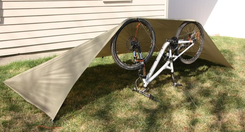 Bike Tarp Tent. An intimate UL experience. : bicycle tents - memphite.com