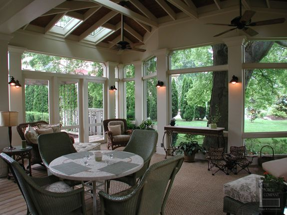 Porch Around A Hackberry Tree Screened Porch Outdoor Rooms