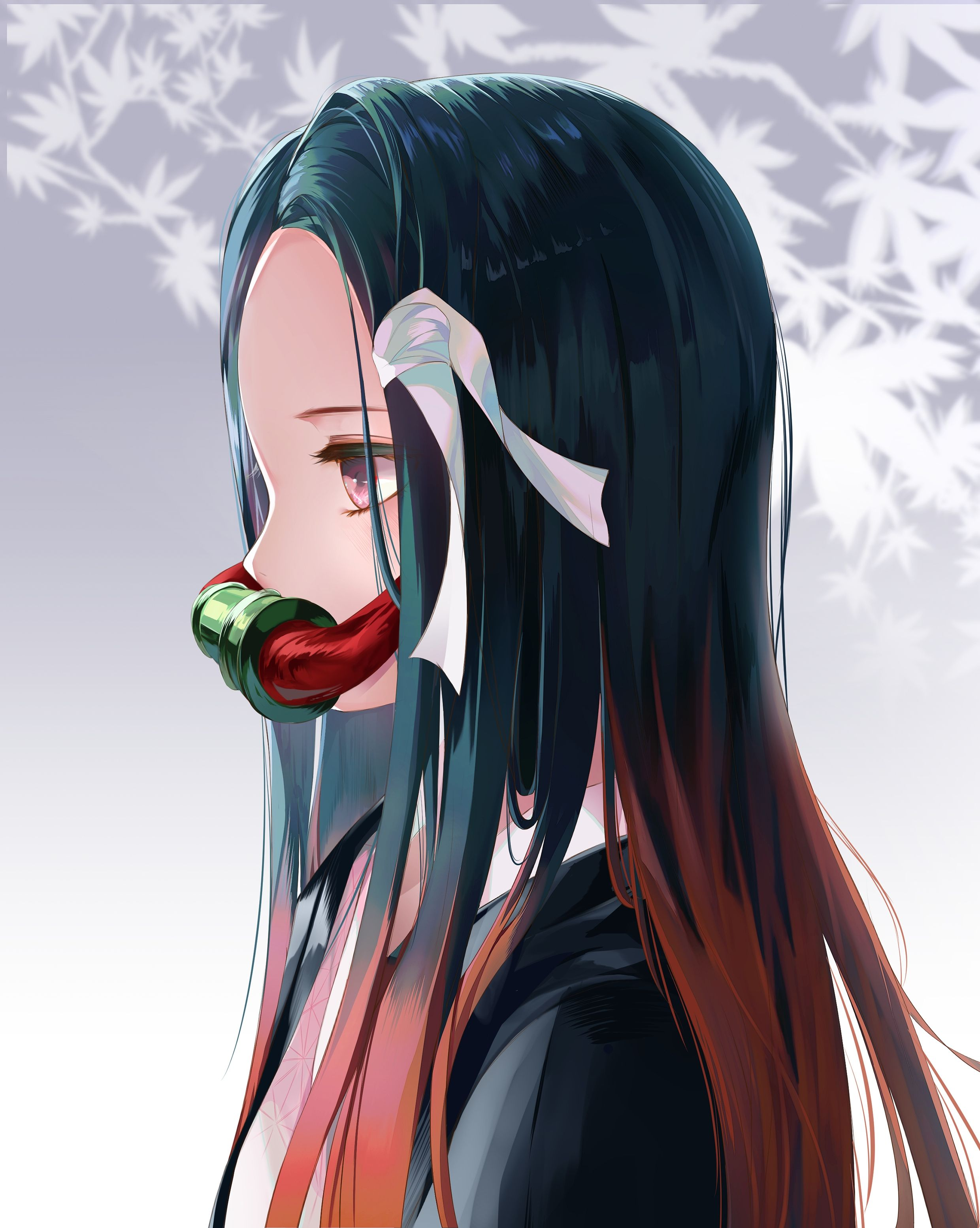 Download 2480x3107 Kamada Nezuko, Profile View, Kimetsu No