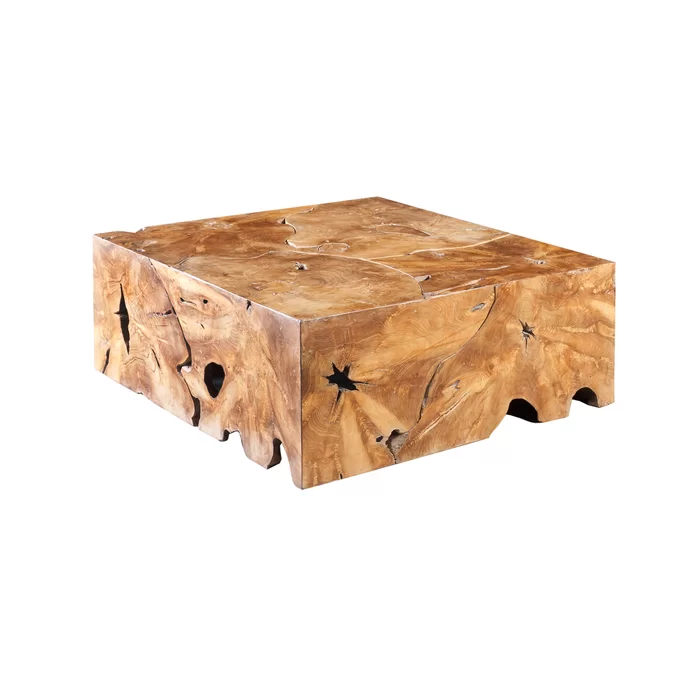 Slice Solid Wood Block Coffee Table Coffee Table Square Coffee Table Wood Teak Coffee Table