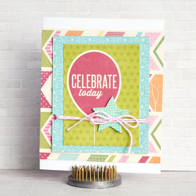 Celebrate Today card by designer Amy Coose featuring Jillibean Soup Birthday Bisque