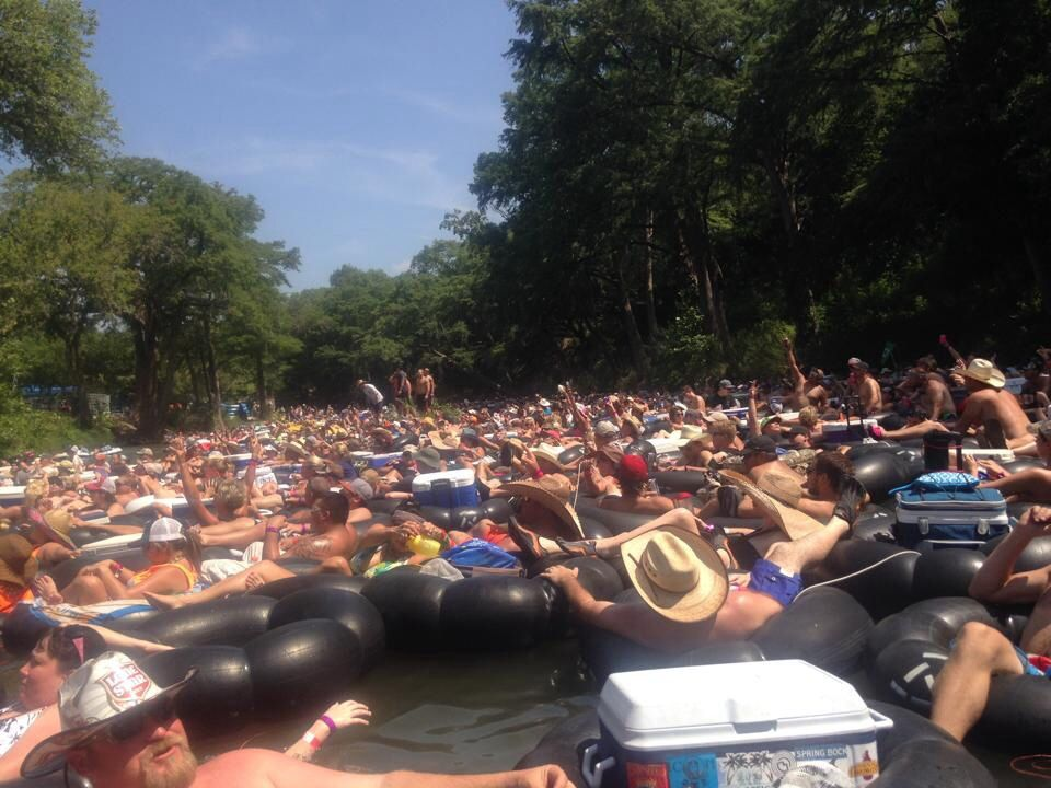 World Record River Float. Guadalupe River.