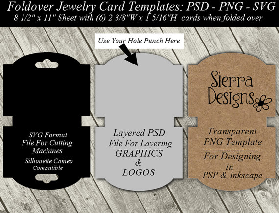 Jewelry Card Template Google Search Earring Cards Template Folded Business Cards Diy Necklace Cards