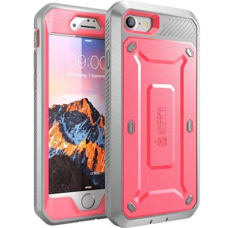 Iphone 7 Case,iPhone 8 Case, Supcase Full-body Rugged Holster Case with Built-in Screen Protector, Pink