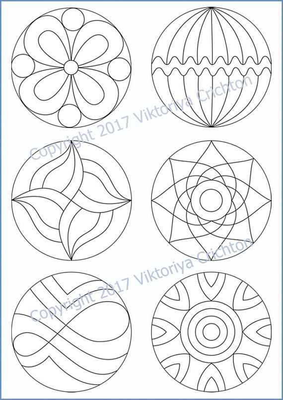 Strings for drawing zentangle patterns in the circle, templates for drawing zentangle patterns, tangle pattern Digital string printable