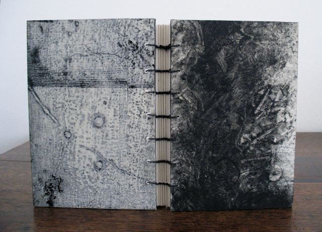 Coptic binding with collograph/monotype cover