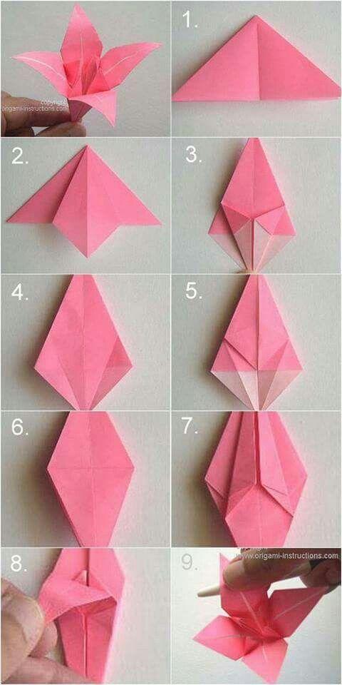 Origami flower origami pinterest origami origami lily and diy origami flower simple oragami simple origami flower paper origami flowers oragami flowers easy mightylinksfo