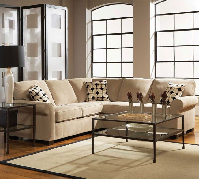 Klaussner Canyon Sectional Nuzzle Latte Microfiber