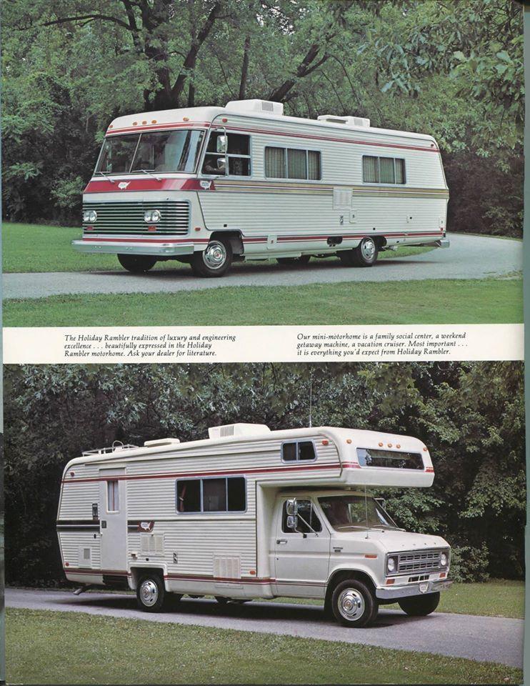 Rv: 1977 Holiday Rambler Motorhome And Mini-Motorhome