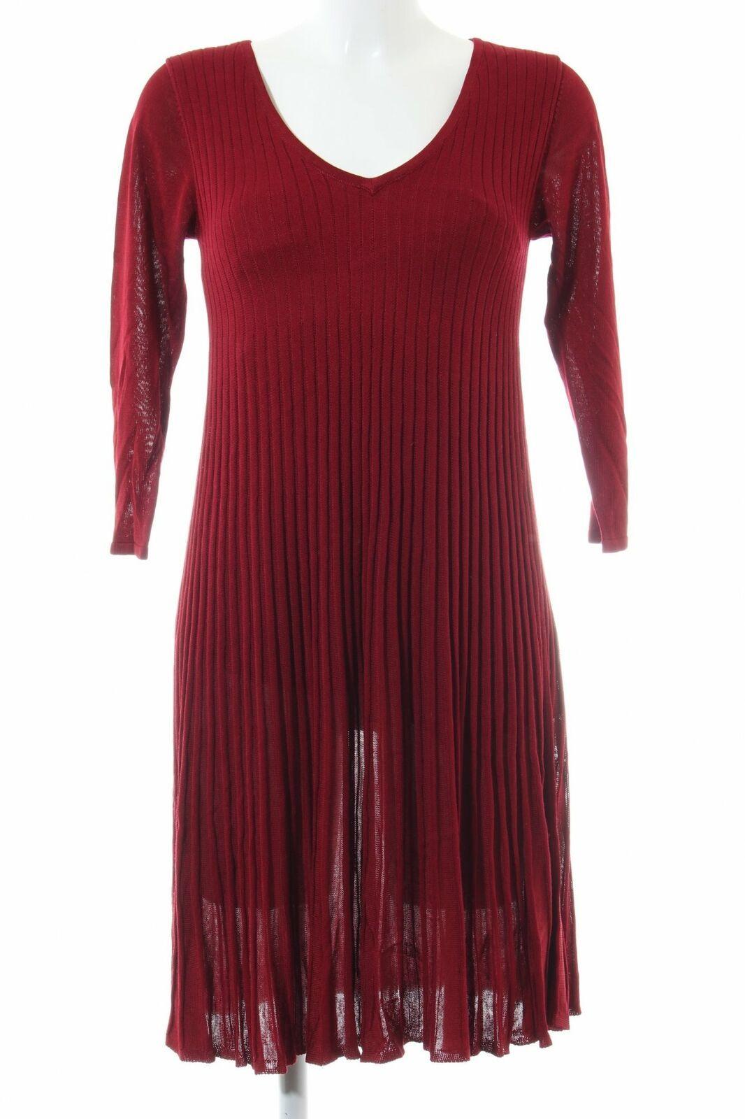 MONSOON Strickkleid rot Casual-Look Damen Gr. DE 19 Kleid Dress