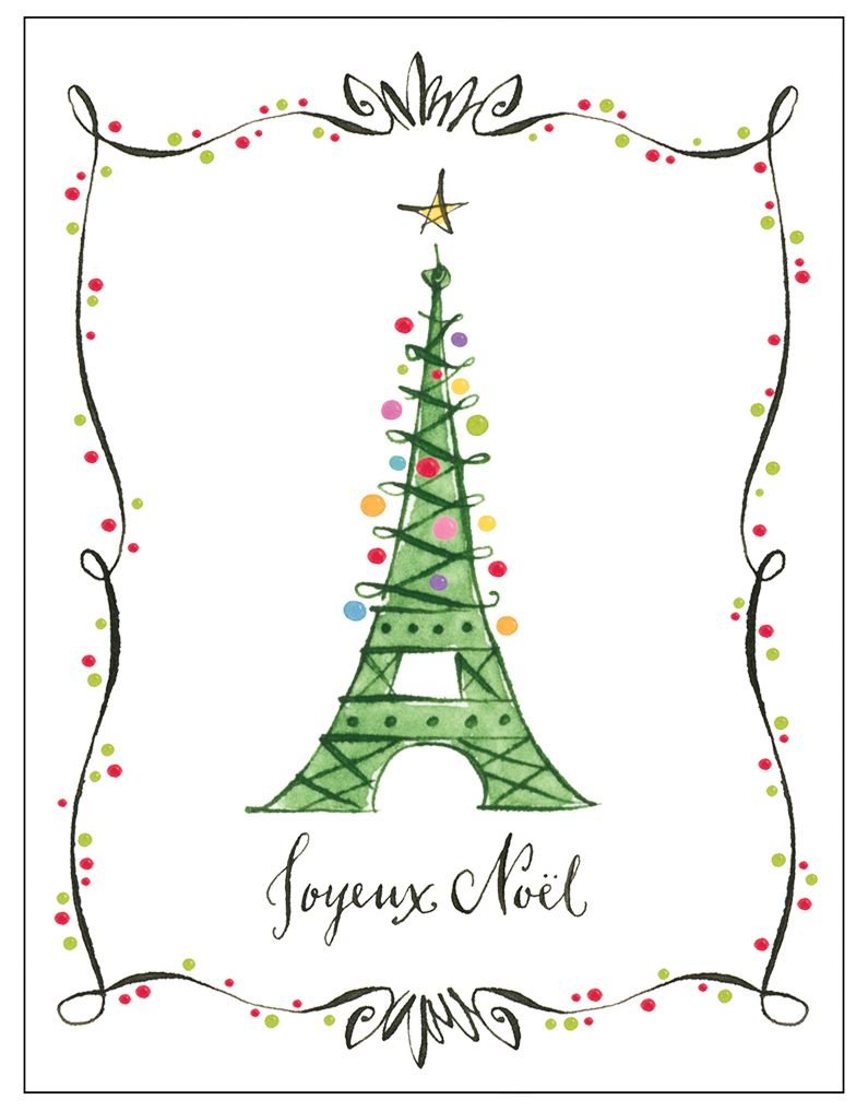Anne Keenan Higgins - Eiffel Tower decorated for Christmas - Joyeux ...