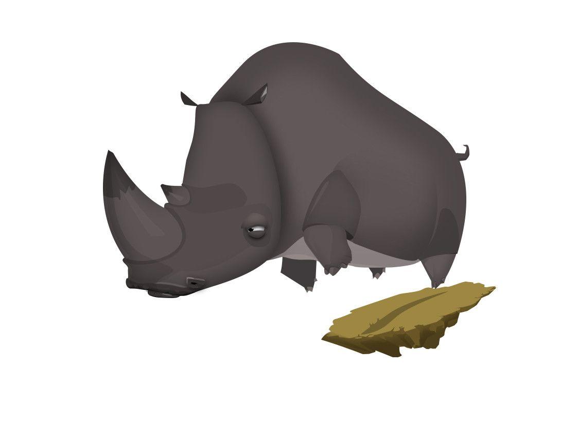 Rhinoceros, Ростислав Варлаков on ArtStation at https://www.artstation.com/artwork/OamOK