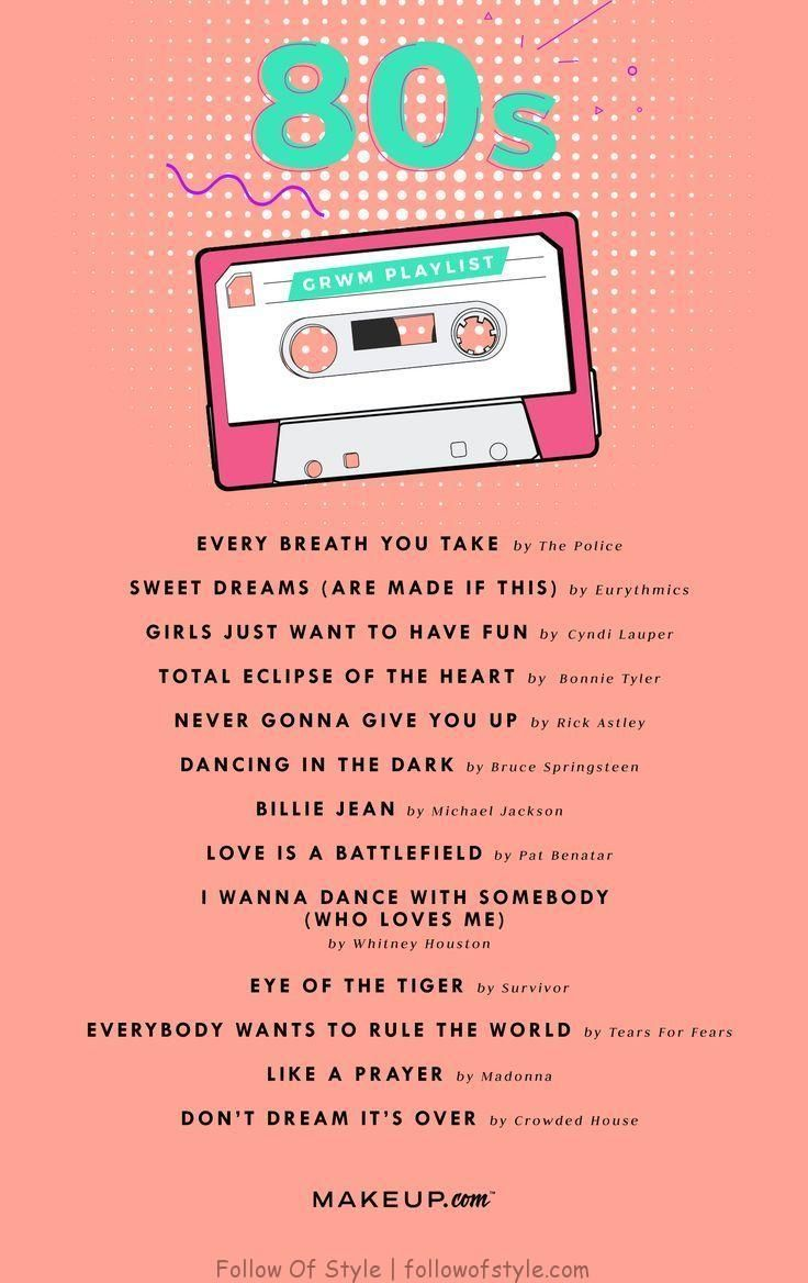 Grwm Die Coolste Playlist Und Das Coolste Tutorial Der 80er Song Playlist Music Mood 80s Music Playlist