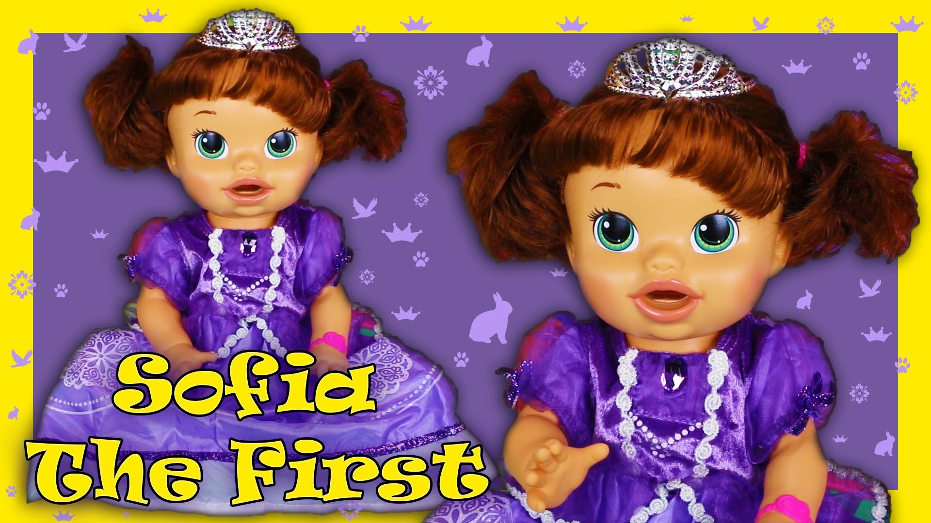 Sofia the First Custom Baby Alive Doll Eats Play Doh Poops Blind