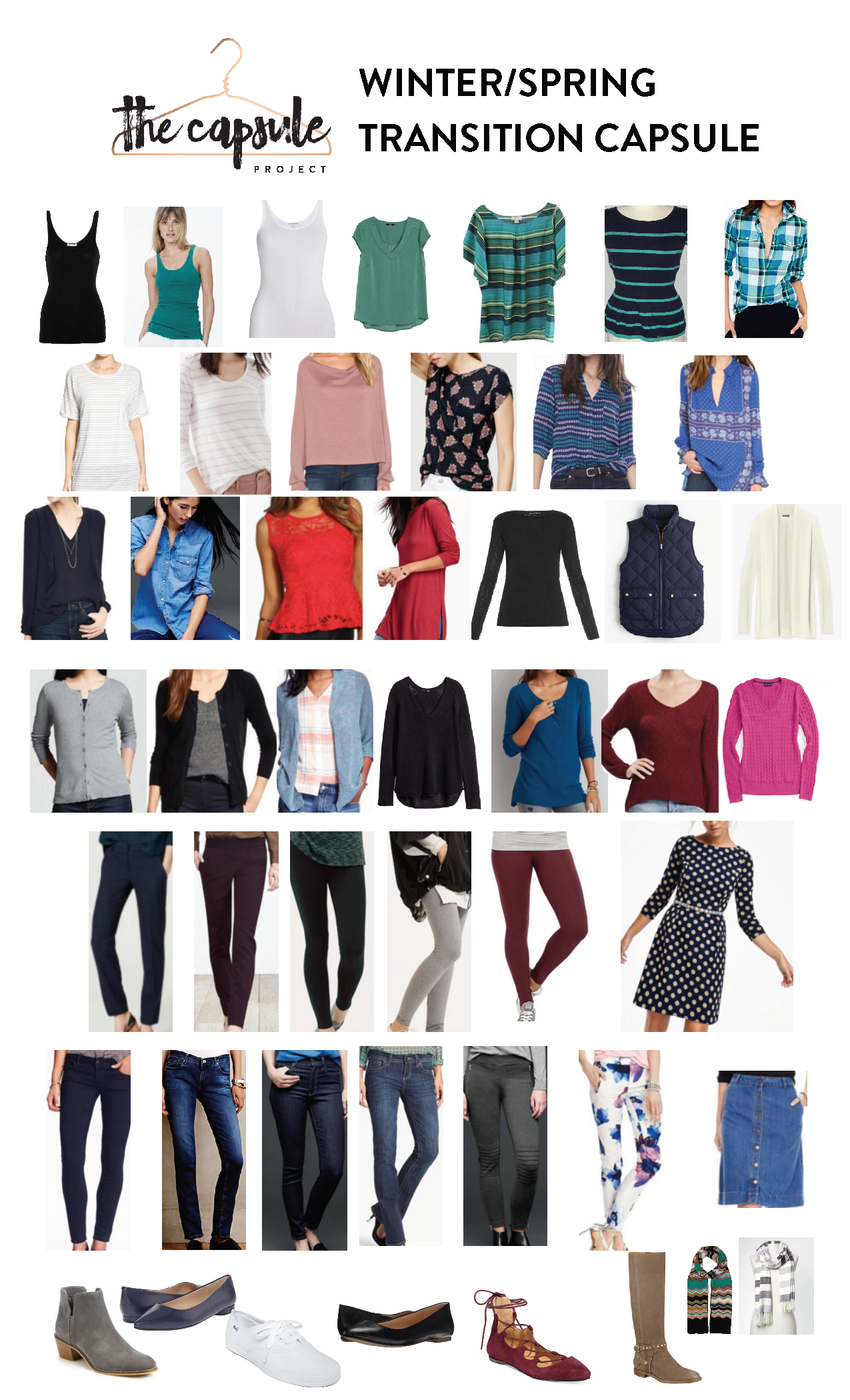 28286819c A Winter Spring Transitional Capsule Wardrobe - learn how to move your  clothes into Spring