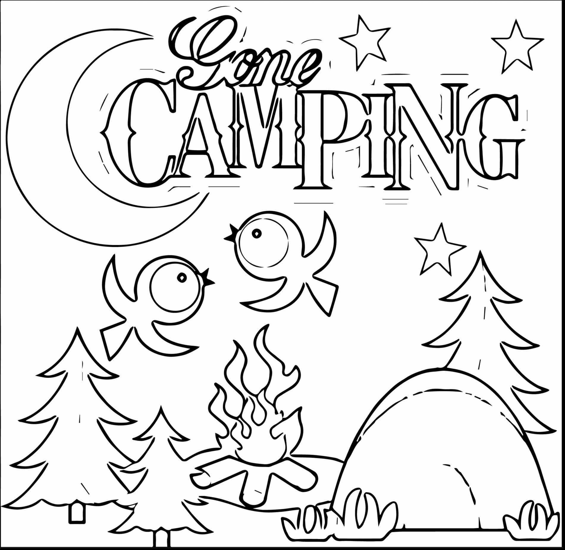 Camping Coloring Pages To Print With Coloring Pages Download And