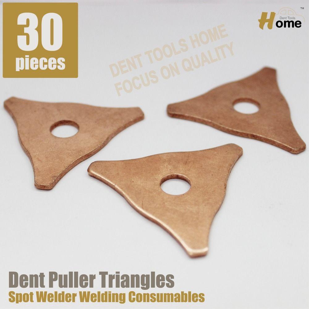 30pieces dent pulling triangles spot welder spotter