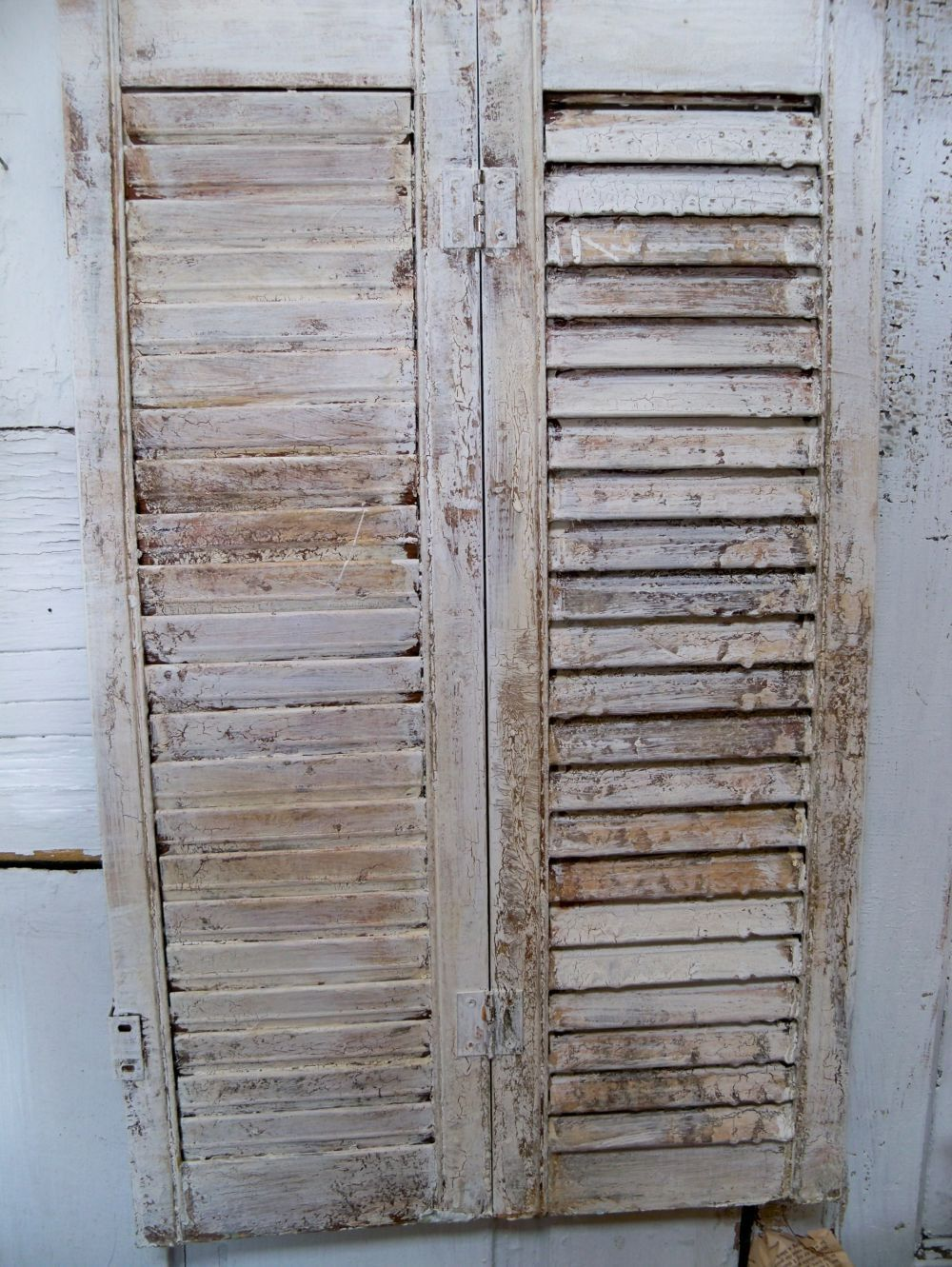 Vintage farmhouse wooden distressed shutter shabby chic home decor
