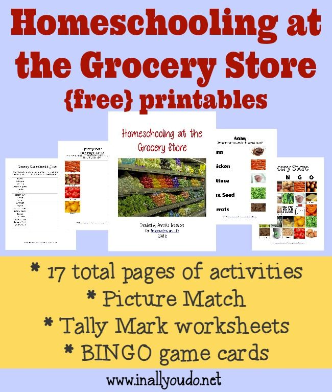 Homeschooling at the Grocery Store | Homeschool, Store and School