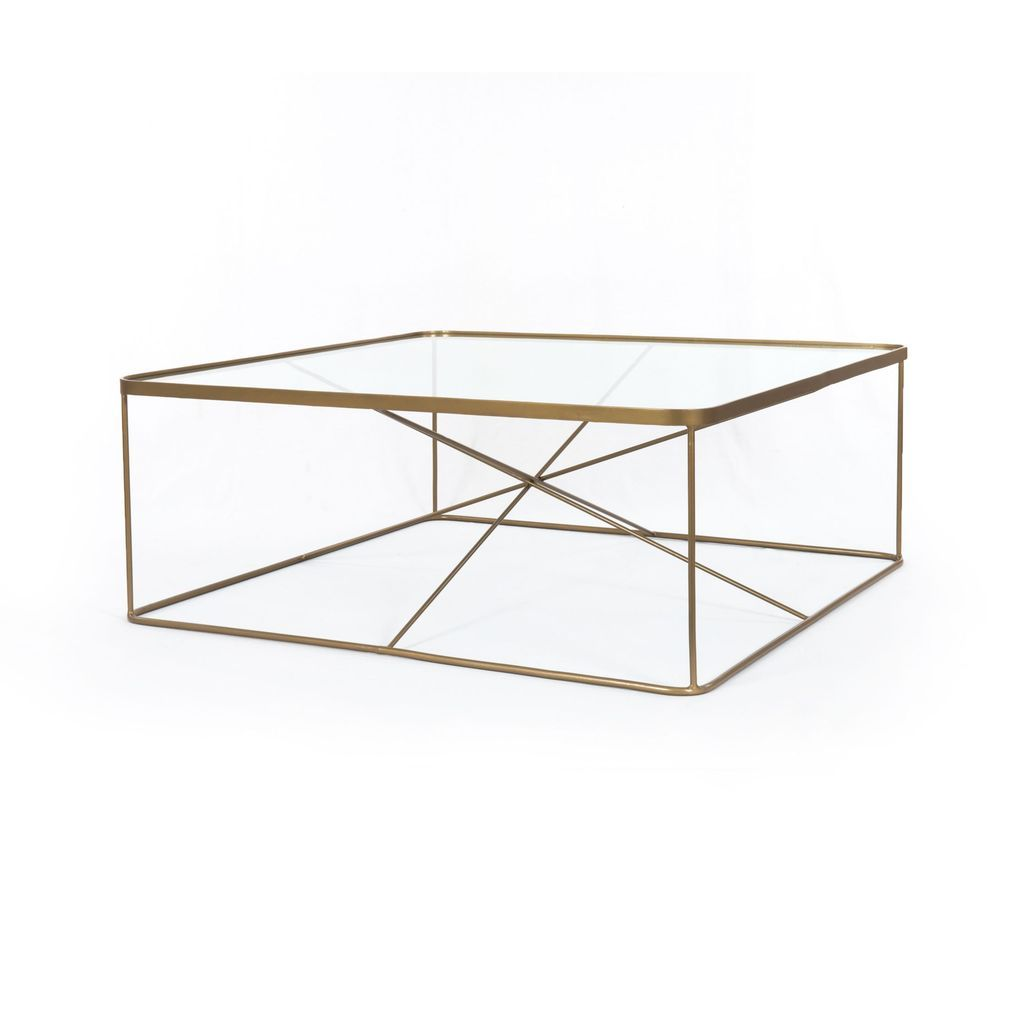 Lucas Square Coffee Table In Antique Brass Coffee Table Square Coffee Table Brass Coffee Table [ 1024 x 1024 Pixel ]