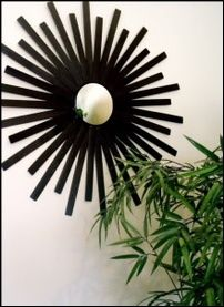 another great option for a sunburst mirror - paint sticks