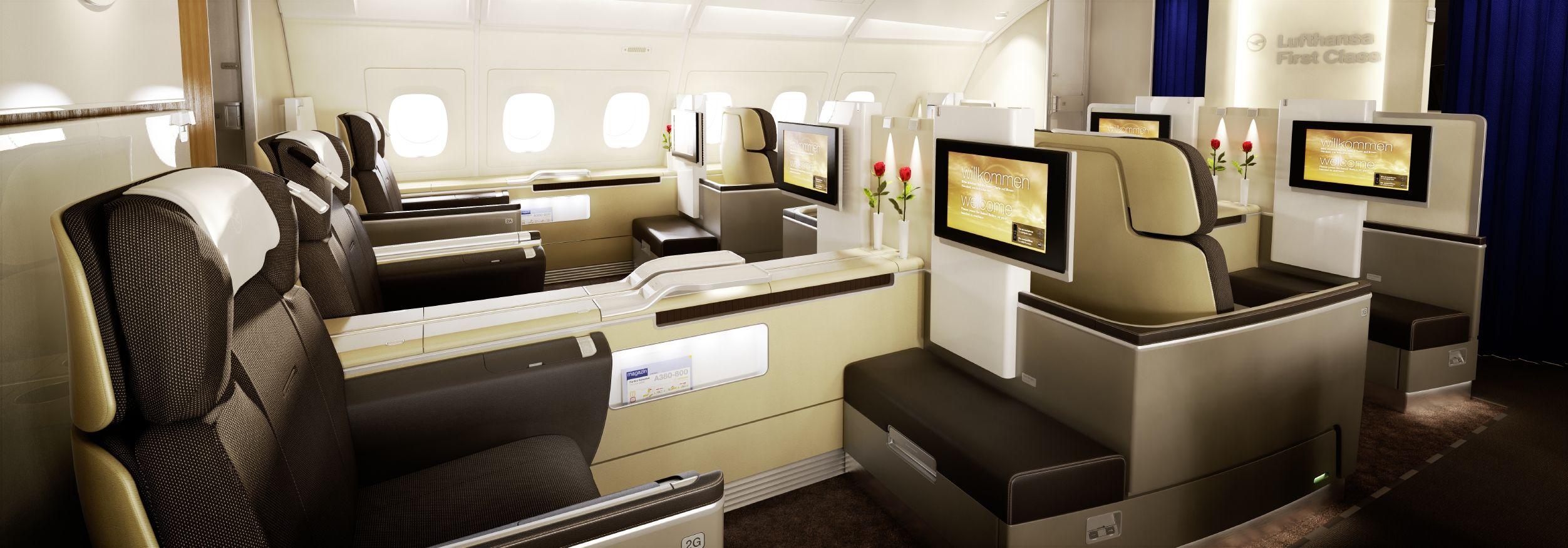 Lufthansa Airbus A380 800 First Class Business Class Tickets
