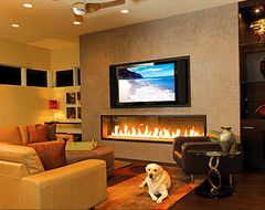 Horizontal Fireplace With Tv Mounted Above Ideas For My