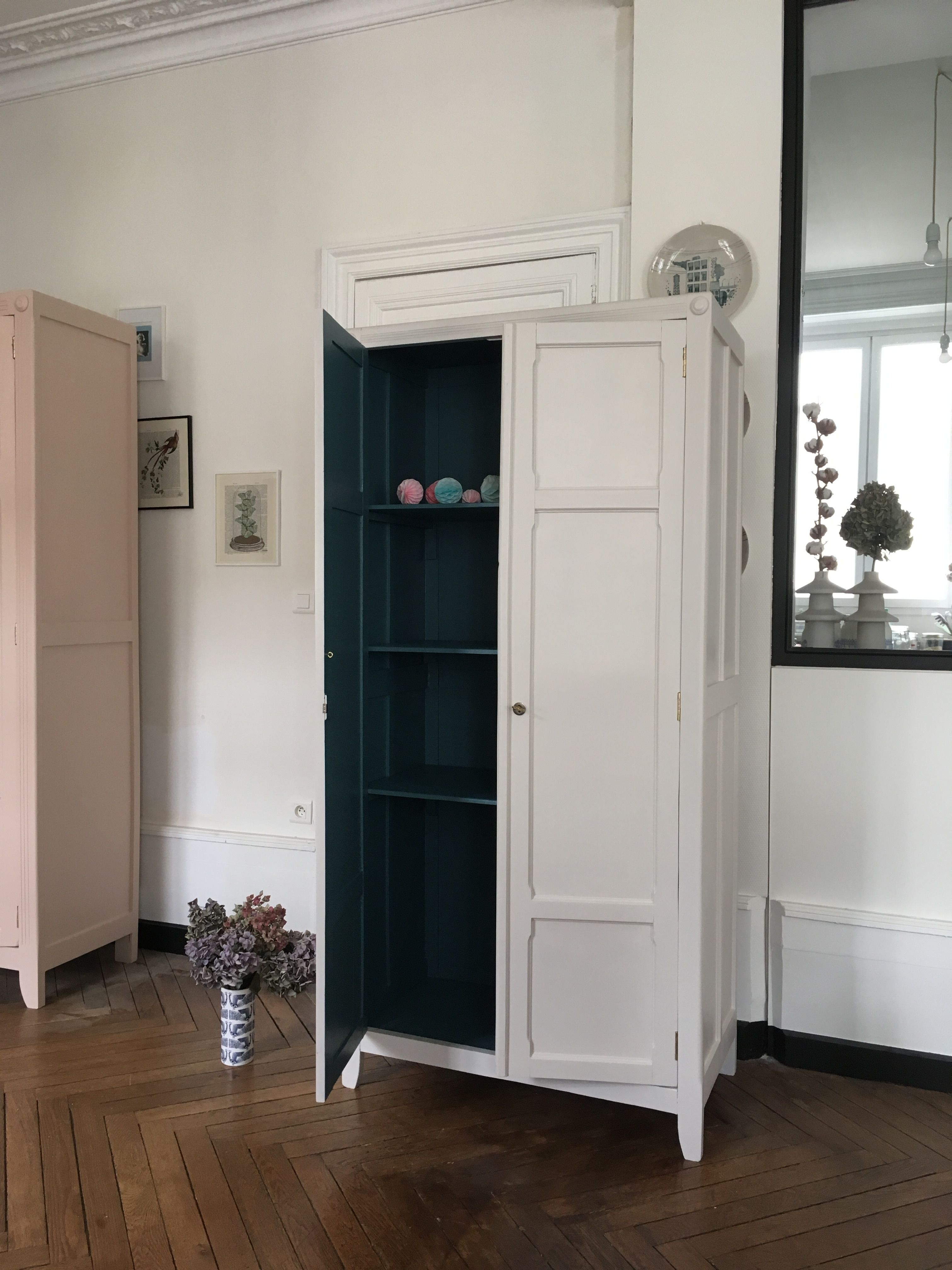 Armoire Parisienne Blanche Magnolia Meubles Vintage Nantes Tall Cabinet Storage Storage Cabinet Furniture