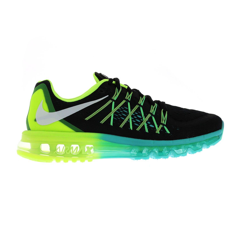 Nike Air Max 2015 Chaussures De Sport Noir / Vert Hyper