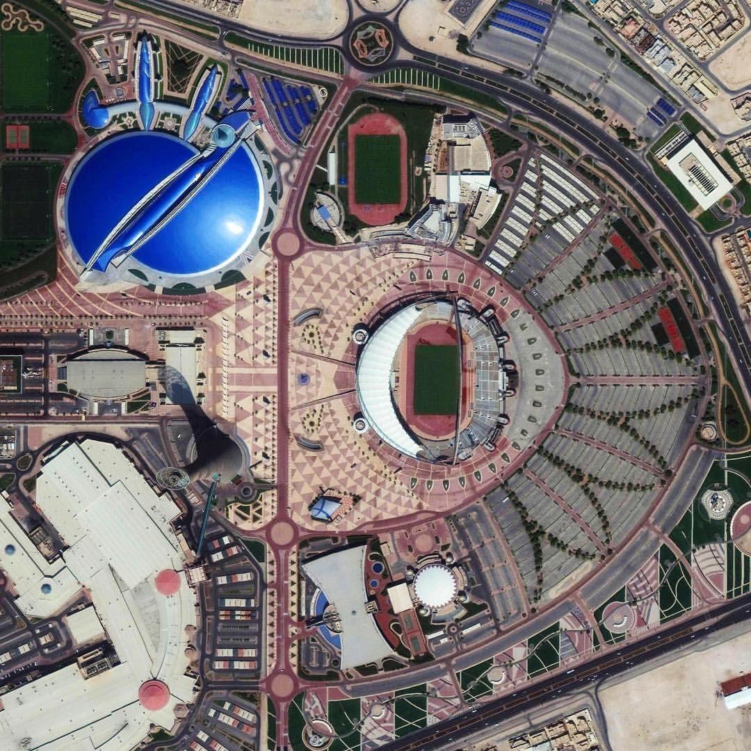 Khalifa International Stadium is a massive sports complex