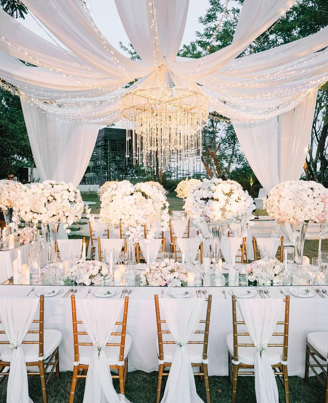 Magical Wedding Backdrop Ideas: Living For This Magical Tented Wedding Reception! Tag A