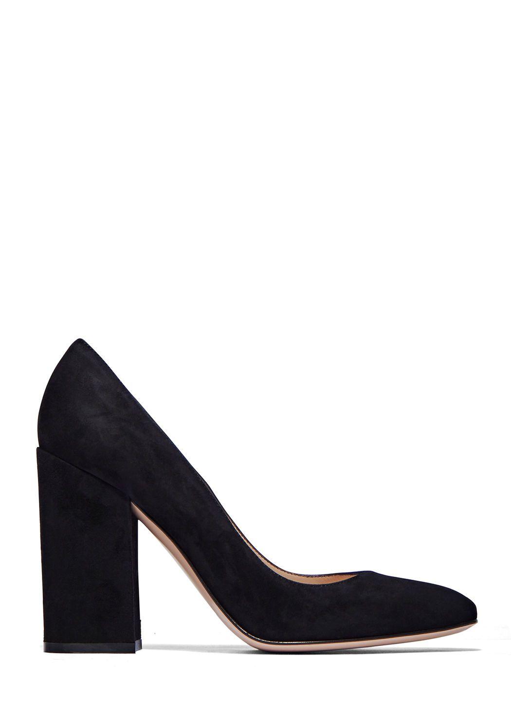 GIANVITO ROSSI Women'S Suede Block Heeled Pumps In Black. #gianvitorossi # shoes #