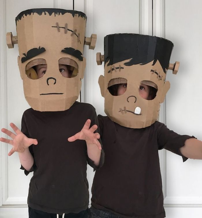 I Make Costumes Out Of Cardboard Boxes For My Kids