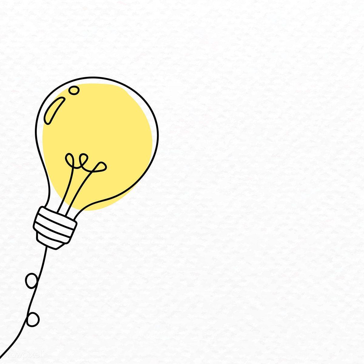 Creative Light Bulb Doodle Vector Free Image By Rawpixel Com Vector Vectoart Digitalpainting Digitalarti Vector Free Powerpoint Background Design Doodles